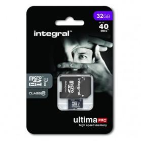 Carte mémoire Micro SD Integral 32 Go + adaptateur USB