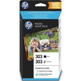 HP 303 cartouche d'encre pack noir, trois couleurs et...