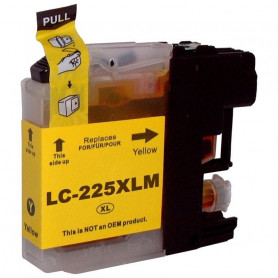Cartouche compatible Brother LC225 JAUNE UPRINT