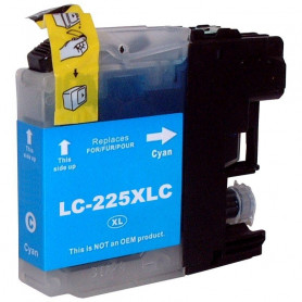 Cartouche compatible Brother LC225 CYAN UPRINT