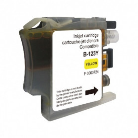 Cartouche compatible Brother LC123 JAUNE