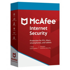 McAfee Internet Security 3 PC 1 an