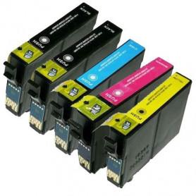 Pack de 5 cartouches compatible Epson T0615