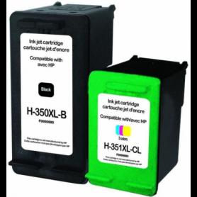 Pack 2 cartouches remanufacturées HP 350-351XL UPRINT
