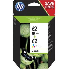 HP 62 cartouche d'encre pack noir et trois couleurs...
