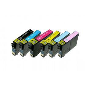 Pack de 6 cartouches compatibles Epson 24XL T2438