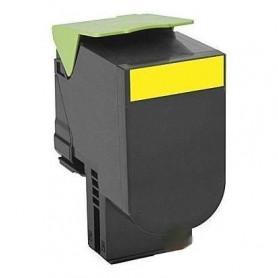 Toner laser compatible Lexmark 80C2SYE / 802SY JAUNE