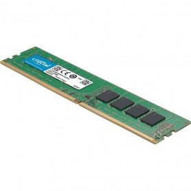 Barrette mémoire 4Go DIMM DDR4 Crucial PC4-19200 (2400...