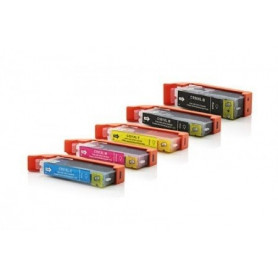Pack 5 cartouches compatibles Canon 550-551