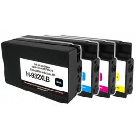 Pack 4 cartouches remanufacturées HP 932-933 XL UPRINT