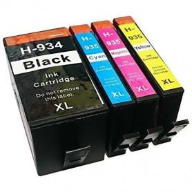 Pack 4 cartouches remanufacturées HP 934-935 XL UPRINT