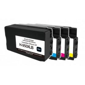 Pack 4 cartouches remanufacturées HP 950-951 XL UPRINT