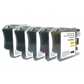 Pack de 5 cartouches compatibles Brother LC127-125XL