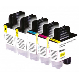 Pack de 5 cartouches compatibles Brother LC900 UPRINT