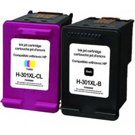 Pack de 2 cartouches compatibles HP 301 XL UPRINT