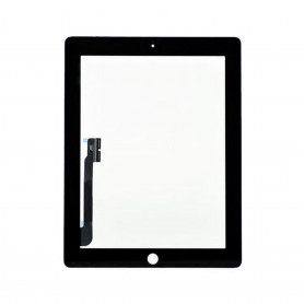 Vitre tactile Apple Ipad 4 Noir